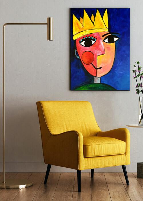 מלך-עם-כסא-קטיפה-צהוב_2