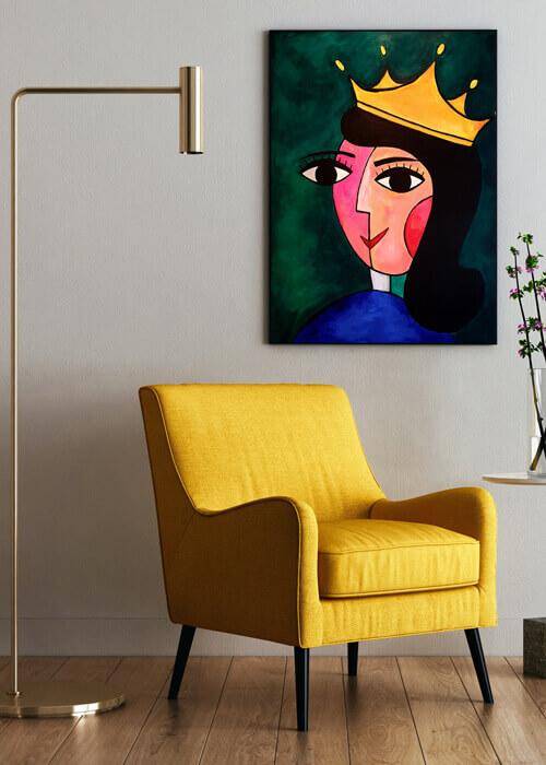 מלכה-עם-כסא-קטיפה-צהוב_2
