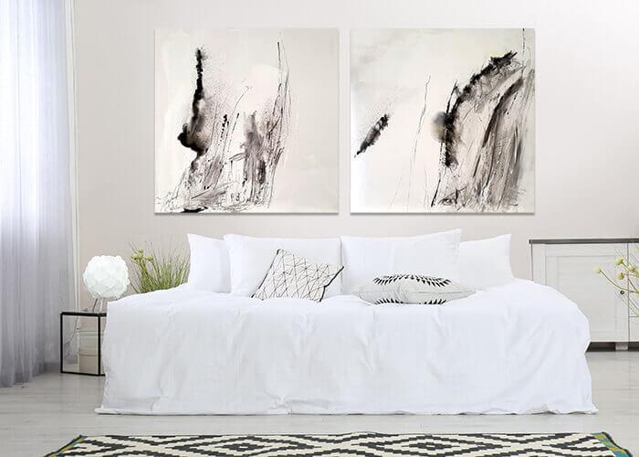 שחור לבן חדר שינה